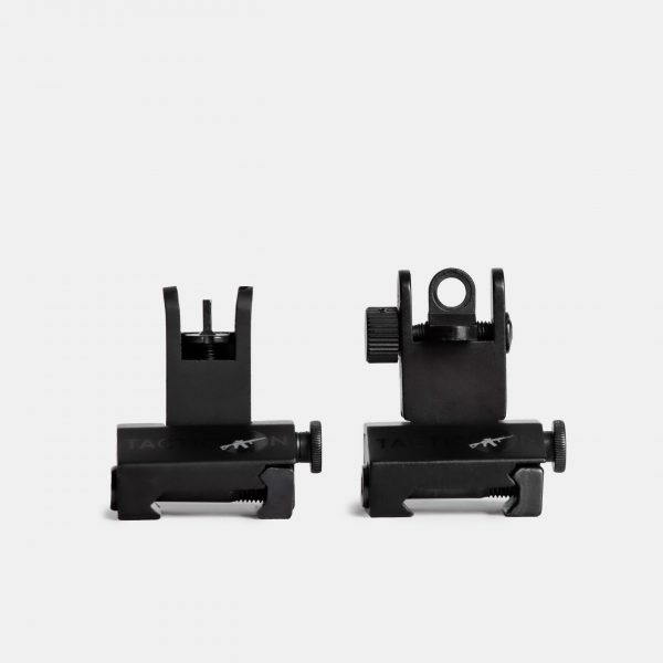 Flip Up Iron Sights For AR15 Rifles With Picatinny Rails