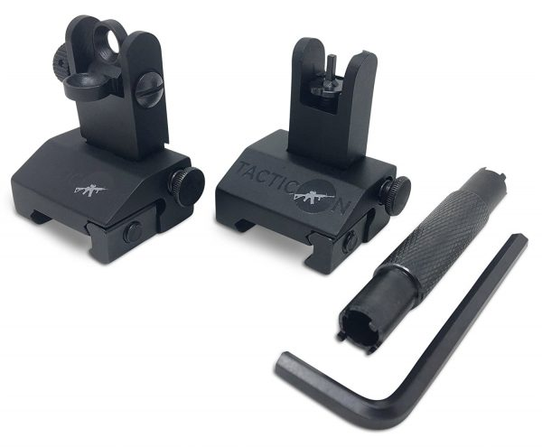 Front & Rear Iron Sights with Adjustment Tools