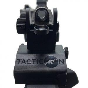 AR 15 Low Profile Flip Up Iron Sights - Rear Sight - Picatinny Rail
