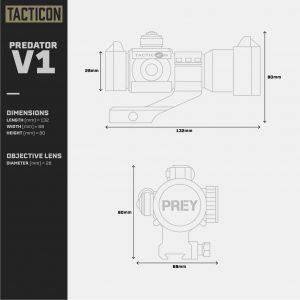 Tacticon Predator V1 - Dimensions & Specs