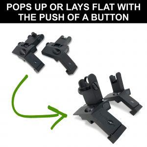 Lay Flat Low Profile 45 Degree Iron Sight Button
