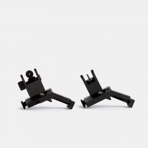 45 Degree Offset Flip Up Iron Sights For AR15 Rifles With Picatinny Rails