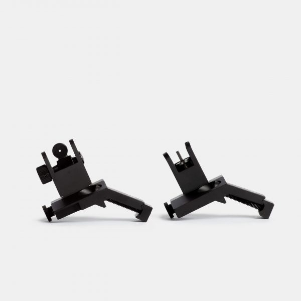 Tacticon Front and Rear 45 Degree Offset Iron Sights - Flip Up - Picatinny BUIS