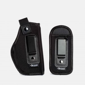 Universal IWB Holster For Concealed Carry | Inside The Waistband | Fits all firearms S&W M&P Shield 9/40 1911 Taurus PT111 G2 Sig Sauer Glock 19 17 27 43