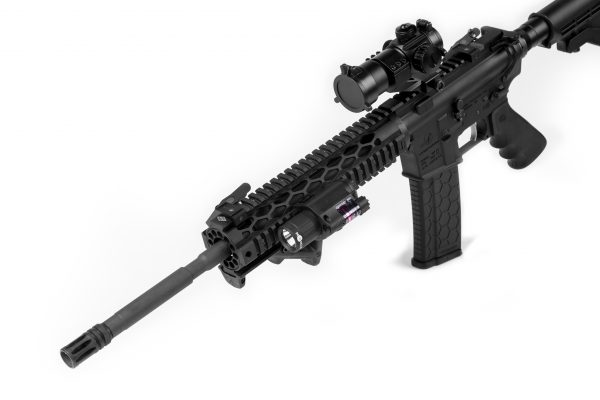Tacticon Red Laser Flashlight On AR-15 ar15 rifle