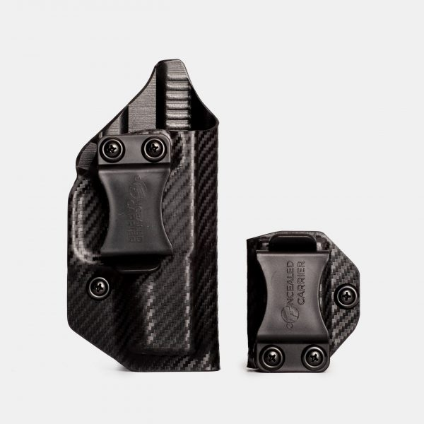 Glock 43 IWB Concealed Carry Gun Holster In Carbon