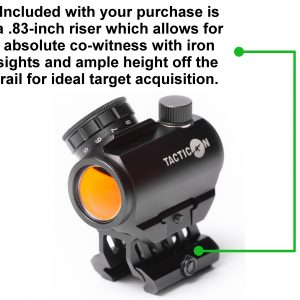Micro red dot sight with .83 inch riser absolute co witness