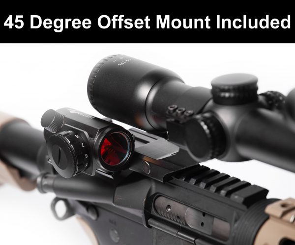 Red dot 45 Degree Offset Mount Included For use with magnified optic