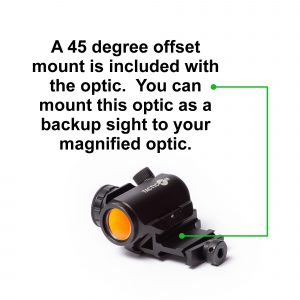Red dot 45 degree offset sights
