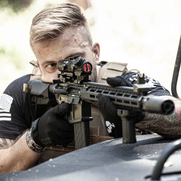Adult Male with Predator V3 Micro Red Dot Sight and 3X Falcon V1