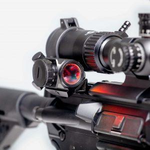 Predator V3 Micro Red Dot Sight Mounted on Picatinny Rail