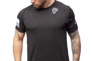 ID Tags TAC Apparel Charcoal Black Shirt