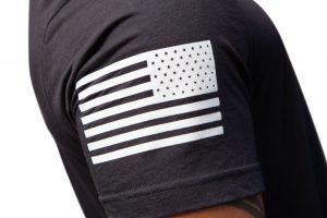 American Flag Sleeve Tacticon TAC Dark Grey