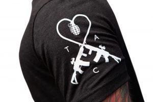 TAC Logo Sleeve Charcoal Black