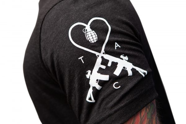 TAC Logo Sleeve Charcoal Black