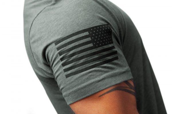 American Flag Sleeve Military Green TAC Apparel