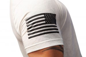 American Flag Oatmeal Shirt Sleeve TAC Apparel