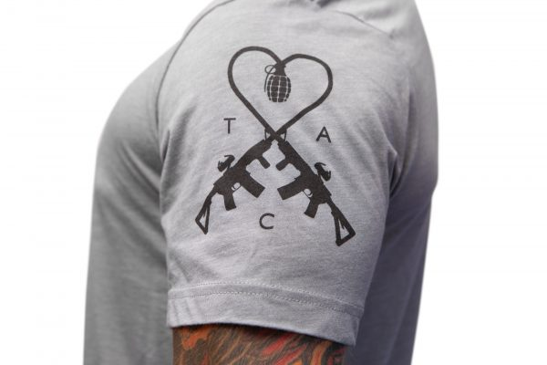 TAC Logo Shirt Grey Black Apparel