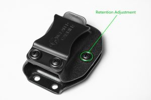 Sig P365 mag Holster retention adjustment