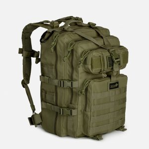 Tactical Assault Pack Expandable Backpack In OD Green