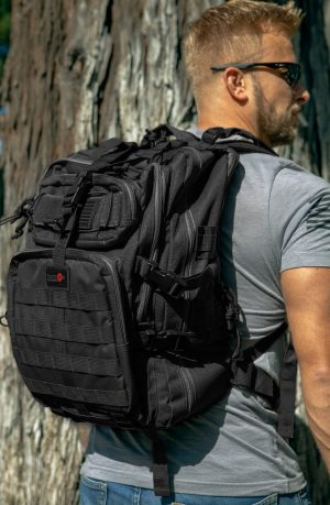 Black Tactical Backpack Lifestyle