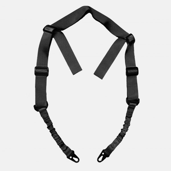 2 Point Rifle Sling in Tactical Black For AR15 Rifle