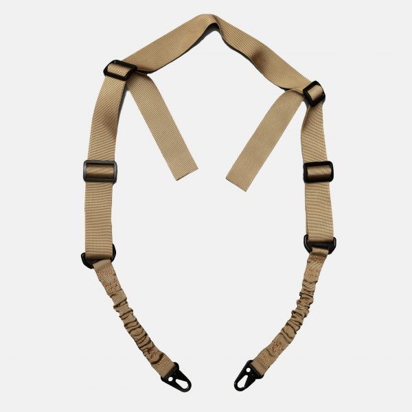 2 Point Rifle Sling in FDE Tan For AR15 Rifle