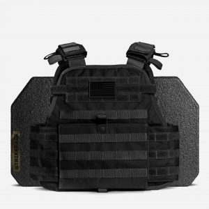 AR500 / AR600 Level 3+ Body Armor with Plate Carrier Package in Black