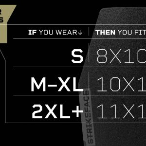 Tacticon Armament Body Armor Plate Size Chart