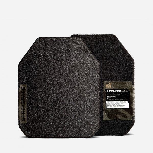 AR600 Level 3+ Steel Core Ballistic Body Armor Plates - Set of 2