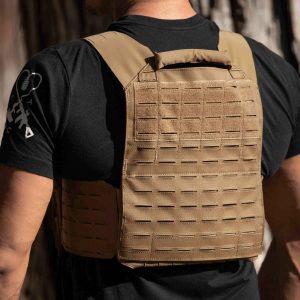 AR500 / AR600 Level 3+ Body Armor Elite With Plate Carrier Package   FDE Tan