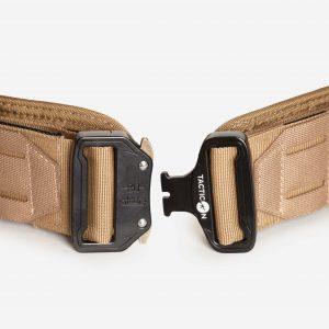Tactical Belt With Metal Clip In FDE Tan