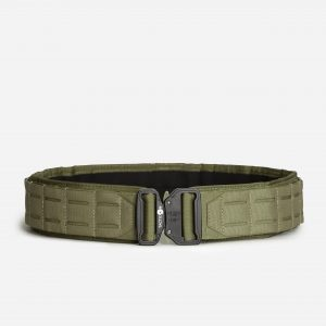 Tactical Belt With Laser Cut Molle Gear In OD Green
