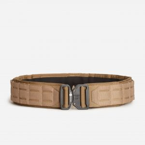 Tactical Belt With Laser Cut Molle Gear In FDE Tan