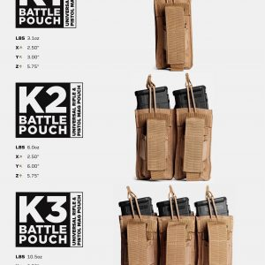 Battle Pouch K1 K2 K3 Universal Rifle and Pistol Mag Pouch