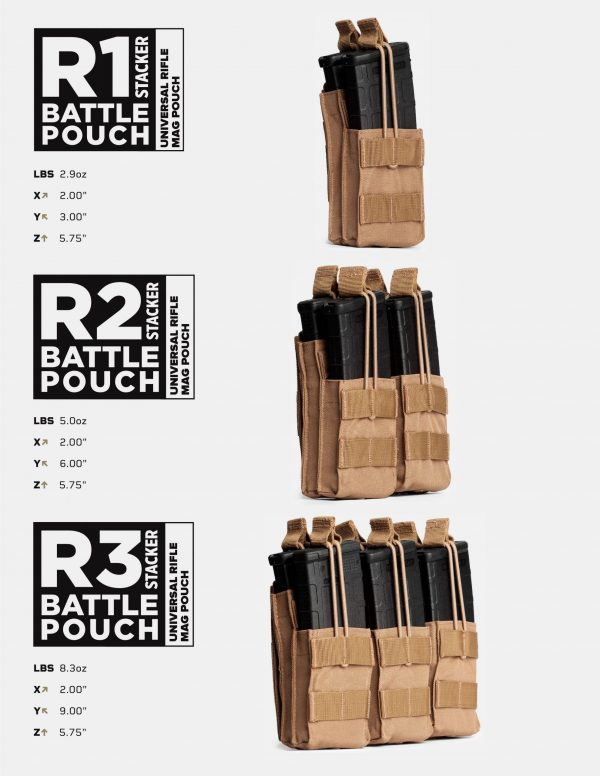 Battle Pouch R1 R2 R3 Stacker Universal Rifle Mag Pouch