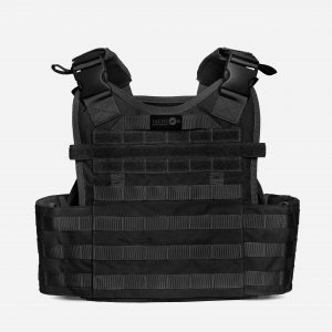 Back of Tactical Plate Carrier For Body Armor In Black