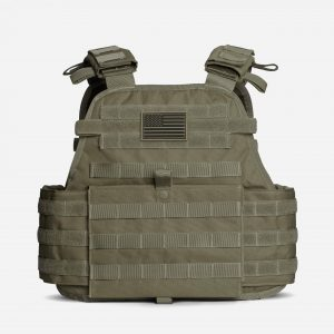 Tactical Plate Carrier For Body Armor In OD Green