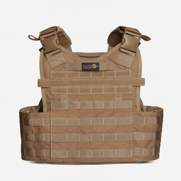 Tactical Plate Carrier For Body Armor In FDE Tan