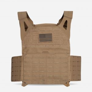 Front Tactical Plate Carrier For Body Armor In FDE Tan