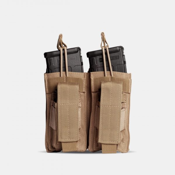 Pistol and Rifle Double Magazine Pouch In FDE Tan – K2
