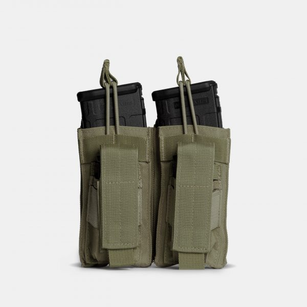 Pistol and Rifle Double Magazine Pouch In OD Green – K2