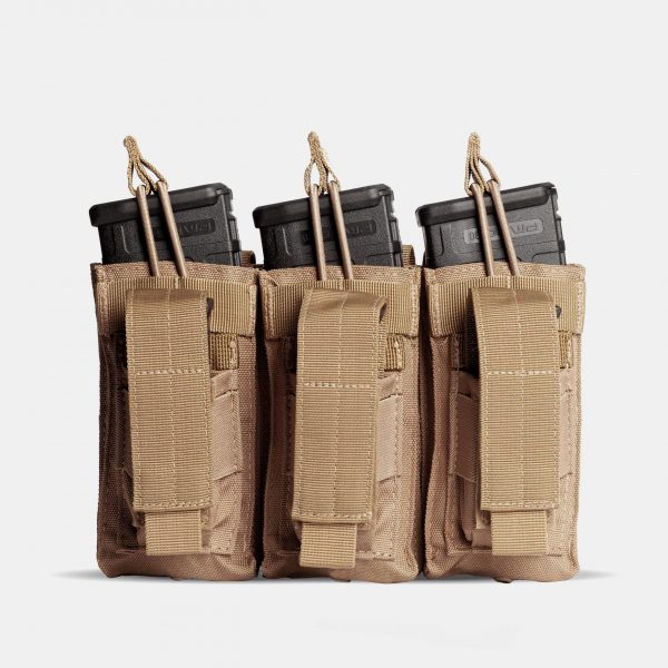 Pistol and Rifle Triple Magazine Pouch In FDE Tan – K3