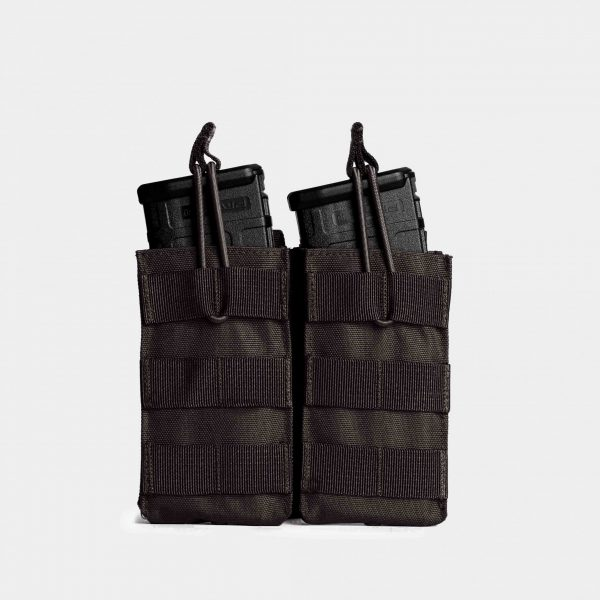 MOLLE Double Rifle Magazine Pouch In Tactical Black – R2