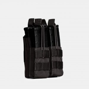 Rifle Double Stack Magazine Pouch In Tactical Black – R2S