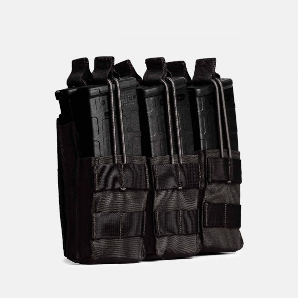 Rifle Triple Stack Magazine Pouch In Tactical Black – R3S
