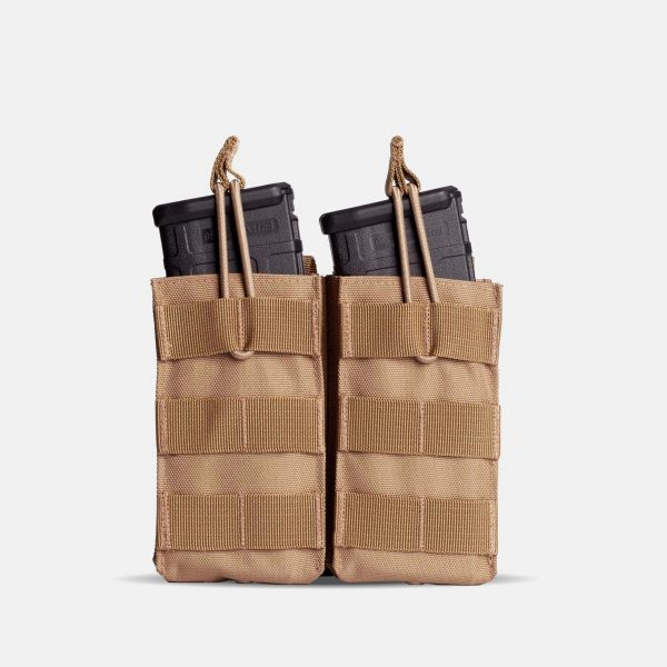 MOLLE Double Rifle Magazine Pouch In FDE Tan – R2