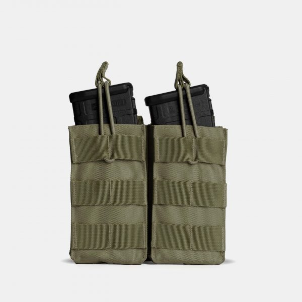 MOLLE Double Rifle Magazine Pouch In OD Green – R2