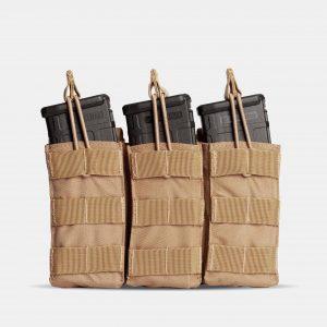 MOLLE Triple Rifle Magazine Pouch In FDE Tan – R3