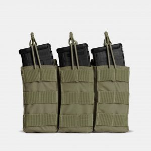 MOLLE Triple Rifle Magazine Pouch In OD Green – R3